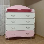 Комод пеленальний KiddyRoom Біло-рожевий