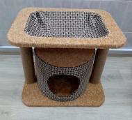 Ігровий комплекс для котів з кігтеточкою KL16 60х40 см
