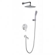 Вбудований змішувач для ванни Gappo Noar G7148-8 Білий/Хром