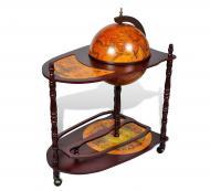 Глобус бар напольный со столиком Гранд Презент 33035R Карта мира Коричневый (345)