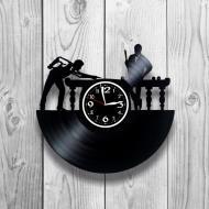 Часы настенные Бильярд 0206 из виниловой пластинки