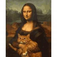 Картина по номерам Babylon Мона Лиза с котом 40х50 см (VP1172)