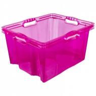 Ящик для зберігання Keeeper Multi-box прозорий 24 л Малиновий