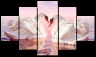 Модульная картина Interno Искусственный холст Два белых лебедя 142x80см (Z5935L)