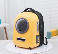 Рюкзак-переноска з ілюмінатором для кішок і собак U-Pet Жовтий