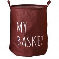 Кошик для білизни Berni Home My Basket тканинний з ручками Бордовий (43432)
