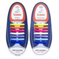 Шнурки силіконові Coolnice One Size прямі Різнокольоровий (24)