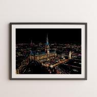 Скретч-картина Гамбург 40.5х28.5 см