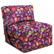 Кресло бескаркасное раскладушка TIA-SPORT Принт Значки 180x70 см