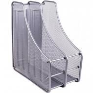 Лоток настільний Metal Lux вертикальний/2 відділення Срібний