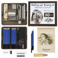 Художній набір для малювання графічні олівці  Art Planet 50 предметів професійний