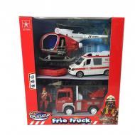 Набір пожежної техніки Byk Fire Squad з вертольотом світлові і звукові ефекти