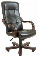 Крісло Virginia шкіра Wood Lux М3 MultiBlock Чорний
