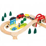 Набір залізниця дерев'яна дитяча Bino 89х69х13 см