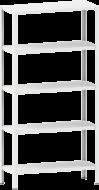 Стелаж металевий 5х100 кг/п 2500х1200х300 мм на болтовому з'єднанні
