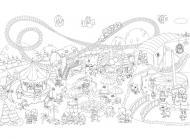 Детская раскраска на стену Мир чудес 60х100 см