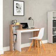 Письменный стол 110H узкий Дуб Сонома/Белый Матовый