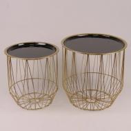 Столики декоративные Flora 2 шт Черный (30030)
