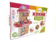 Кухня дитяча Limo Toy 16854B з водою і парою 28 предметів Рожевий (39396852)