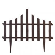 Комплект огорожи для газону Алеана Парканчік 65х55 см 4 секції Коричневий