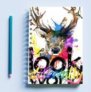 Скетчбук Sketchbook для малювання з принтом Look world at the differentty