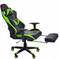 Кресло геймерское с подножкой для ног Aragon Зеленый