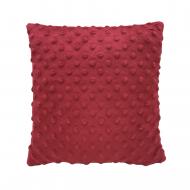 Плюшевая декоративная подушка квадрат MinkyHome 30х30 см Бордо