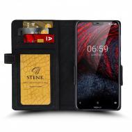 Чохол книжка Stenk Wallet для Nokia 6.1 Plus Чорний (62348)