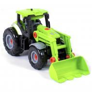 Трактор-конструктор Jia Yue Toys з шуруповертом розбірний Зелений (34906)