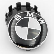 Ковпак заглушка в литі диски BMW 56 мм 1 шт. Чорно-білий
