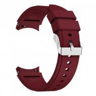 Ремешок на Samsung Galaxy Watch 4 Classic 42 мм Тёмно-красный (WB00S4GALAXYCLASSIC8442)