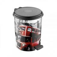 Ведро для мусора с педалью Elif Лондон 11 л (365)