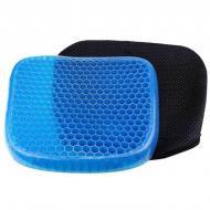 Ортопедическая гелевая подушка Egg Sitter с чехлом 45х35х3,5 см Синий (300001)