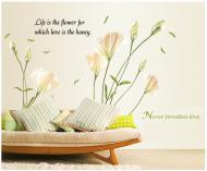 Интерьерная виниловая наклейка на стену Нежная лилия