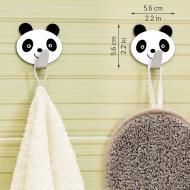 Крючки для полотенец Tatkraft Panda самоклеющиеся из нержавеющей стали  (20078)