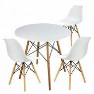 Комплект мебели Jumi Scandinavian Design стол и стулья White (2108)