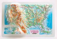 Карта США Testplay магнит 3D Mini 15x10 см