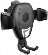 Автомобільний тримач з бездротовою зарядкою QI на дефлектор AWEI CW2 10W Чорний
