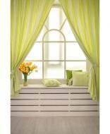 Комплект штор Кантри 250х200 см 2 шт Зеленая полоска