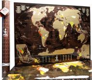 Скретч карта мира кофе и шоколад My Map Chocolate Edition на английском языке