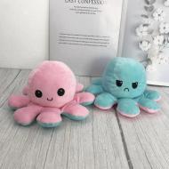 Милая мягкая игрушка двухсторонний осьминог Розово-голубой (V08)