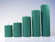 Набор свечек из пчелиного воска Feroma Candle 5 шт Бирюзовый