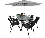 Комплект садовой мебели Kontrast Garden Boston Black-6GR (580754)