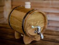 Діжка дубова для напоїв жбан 5 л