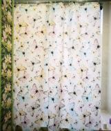 Шторка для ванни і душу текстильна 180x200 см Метелик 10190
