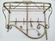 Вешалка кованая настенная Узор 72х65х30 см