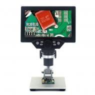 Мікроскоп цифровий на штативі Gaosuo G1200HD з LCD екраном і підсвічуванням