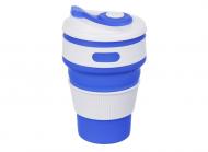 Чашка складная силиконовая Collapsible 5332 350мл, синяя