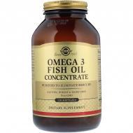 Solgar Omega 3 Fish Oil Concentrate 120 капс Без смаку
