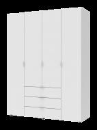 Шкаф для одежды Гелар 1550х495х2034 мм корпус фасад ДСП Белый (10001)